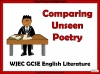 WJEC Comparing Unseen Poetry (slide 1/53)