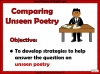 WJEC Comparing Unseen Poetry (slide 2/53)