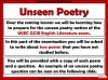 WJEC Comparing Unseen Poetry (slide 3/53)