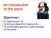 WJEC GCSE Love Poetry Teaching Resources (slide 132/347)