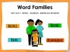 Word Families - Year 3 and 4 Teaching Resources (slide 1/17)