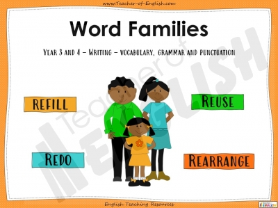 Word Families - Year 3 and 4 Teaching Resources