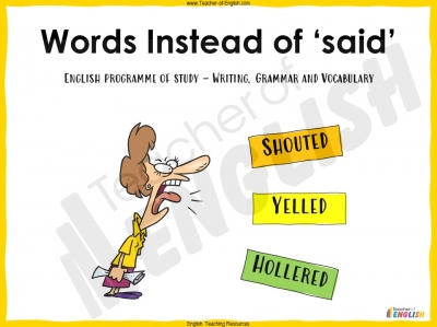 Words Instead of Said - KS3