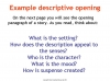 Writing Effective Story Openings (slide 10/15)