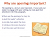Writing Effective Story Openings (slide 9/15)