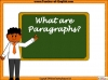 Writing Using Paragraphs (slide 3/14)