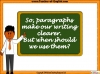 Writing Using Paragraphs (slide 8/16)