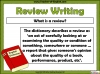 Writing a Review (slide 3/29)