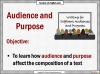 Writing for Different Audiences and Purposes (slide 2/17)
