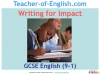 Writing for Impact Teaching Resources (slide 1/79)
