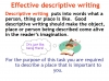 Writing to Describe Teaching Resources (slide 15/42)