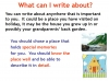Writing to Describe Teaching Resources (slide 16/42)