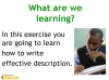 Writing to Describe Teaching Resources (slide 2/42)