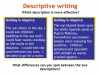 Writing to Describe Teaching Resources (slide 28/42)