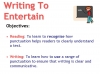 Writing to Entertain Teaching Resources (slide 1/152)
