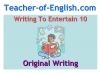 Writing to Entertain Teaching Resources (slide 129/152)