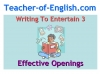 Writing to Entertain Teaching Resources (slide 22/152)