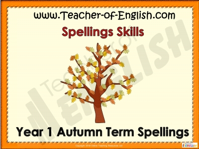 Year 1 Autumn Term Spellings Teaching Resources