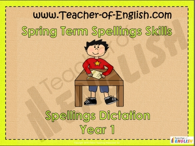 Year 1 Spring Term Spellings