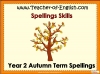 Year 2 Autumn Term Spellings (slide 1/21)