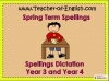 Year 3 and Year 4 Spring Term Spellings (slide 1/31)