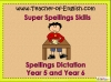 Year 5 and Year 6 Spring Term Spellings Teaching Resources (slide 1/31)