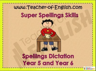 Year 5 and Year 6 Spring Term Spellings