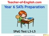 Year 6 SPaG Test Preparation (slide 1/5)