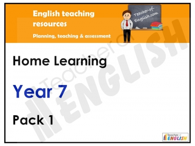 Year 7 Home Learning Pack Teaching Resources