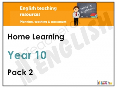 Year Ten Home Learning Pack 2